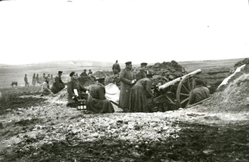 Българската артилерия при Одрин, март 1913 г.