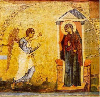 Свето Благовещение. Икона от ХVІІ в. от остров Патмос