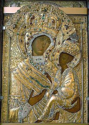 Първообраз на чудотворната Тихвинска икона на Пресвета Богородица