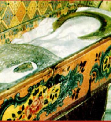 Раклата с мощите на Св. Иоан Рилски в Рилския манастир