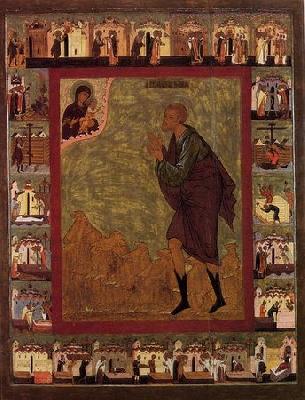 Св. Прокопий Устюжски. Икона от Велики Устюг. 1602 г.