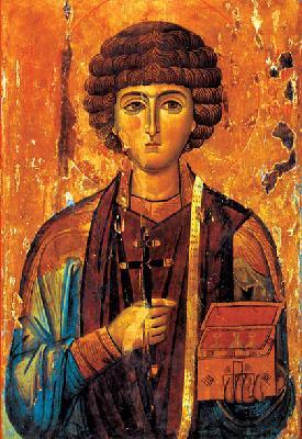 Св. великомъченик Пантелеймон. Икона от Византия. XIII век. Манастир св. Екатерина на Синай (Египет)