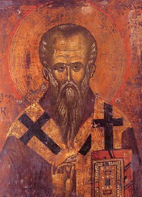 Свети равноапостолен Климент Охридски. Икона от България. XIV в.