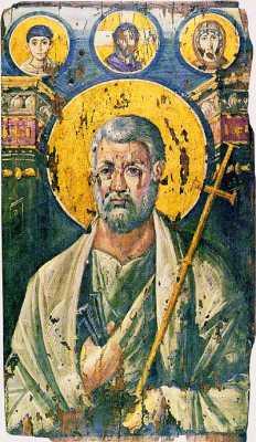 Апостол Петър. Икона от VI в. Манастир ''св. Екатерина'' на Синай