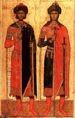 Свети князе страстотерпци Борис и Глеб