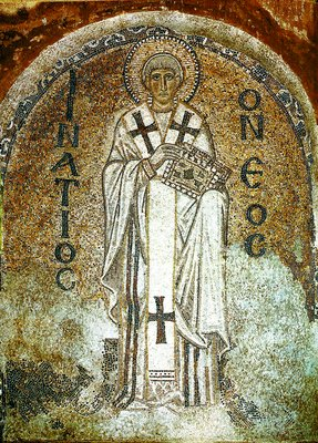 Свети Игнатий, патриарх Константинополски. Мозаика. Константинополь. Конец IX в.