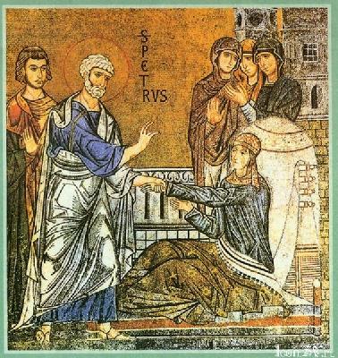 Воскрешение святой Тавифы св. апостолом Петром