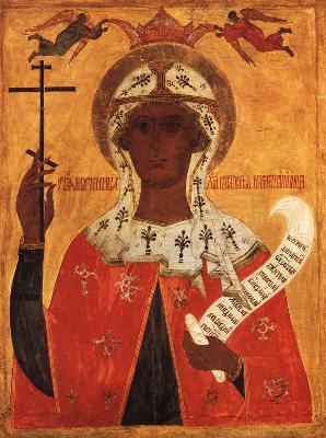 Св. великомъченица Параскева. Икона от Русия. 2-ра половина XVI в.