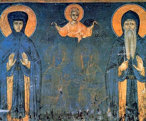 Св. Стефан Милутин, крал Сръбски и майка му Елена