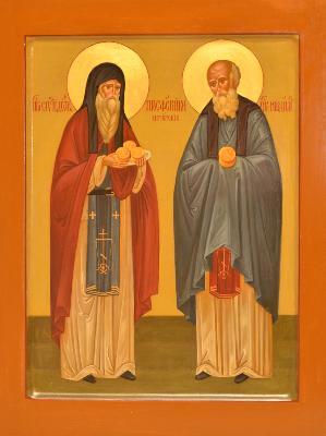 преподобните Спиридон и Никодим