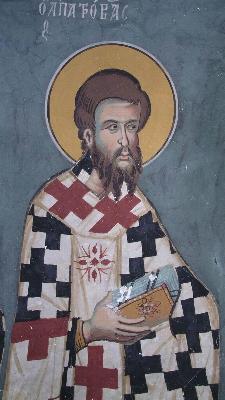 Ап. Патров. Фреска. Монастырь св. Иоанна Лампадистиса. Калопанайотис. Кипр. 1400 год.