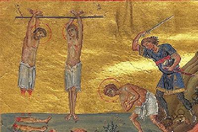 Мъчение на светите мъченици Меласип, Касиния и Антонин