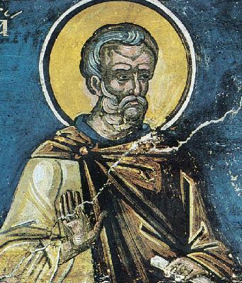 Преп. Иоан Колов. Фреска. Атон (Дионисиат). 1547 г.