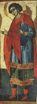 Св. мъченик Александър Солунски. Икона от Твер. XV в.