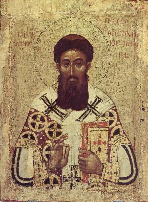 Св. Григорий Палама. Икона. Византия. 1370-80-е години.