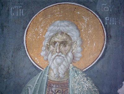 Мъченик Гурий. Фреска от църквата
