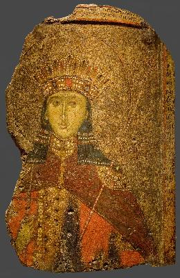 Света великомъченица Екатерина Александрийска. Икона от Византия. XIV в.