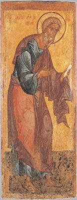 Апостол Андрей Първозвани. Икона от Ростов. XV в.