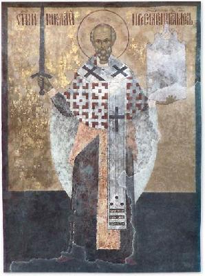 Свети Николай Чудотворец. Икона на Николските врати. Москва, Кремъл.
