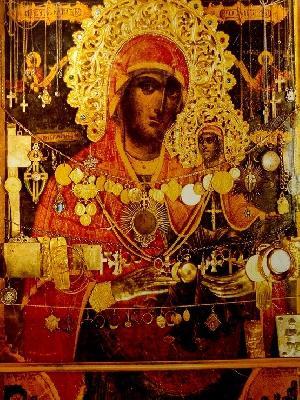 Чудотворна икона на света Праведна Анна с малката Богородица. Атон, Скит Света Анна