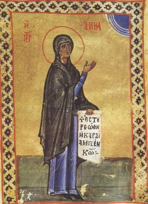 Светата пророчица Анна, майка на пророк Самуил