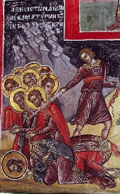 Мъчение на светите десет критски мъченици