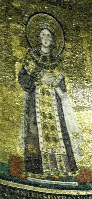 Св. Агния. Мозаика в олтара на църквата света Агния. Рим. 625-638 гг. Храмът е построен на мястото на мъчението на светицата