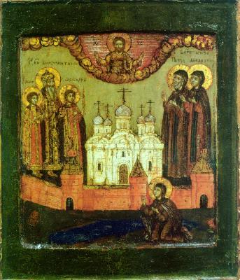 Муромските светители. Икона. Русия. Края на XVII в.