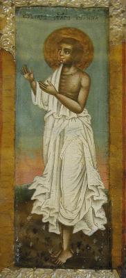 Св. Иоан Устюжски. Икона. Росия. XVIII век.