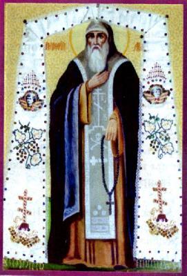 Прп. Онуфрий Малски. Икона от Псков. XIX в.