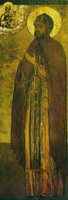 Св. преподобни Никодим Кожеезерски. Икона от Росия. Началото на XVIII век.