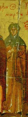 Света Марта Антиохийска. Фрагмент от минейна икона за месец юли. Русия. Началото на XVII в.