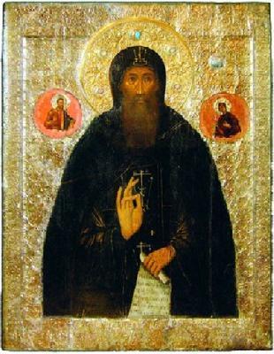 Свети преподобни Евтимий Суздалски. Икона от XVI в.
