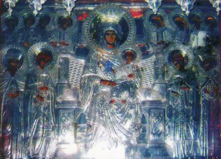 """Първообраз на чудотворната икона на Пресвета Богородица """"Економисса"""" (""""Домостроителка"""") намиращ се на Атон."""