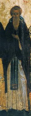 Св. преподобни Тома Малеин. Годишна минейна икона от Русия. 1-ва половина на XVI в.