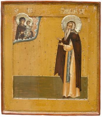 Св. преподобни Михаил Малеин. Икона от ХVII в. Соловецки манастир