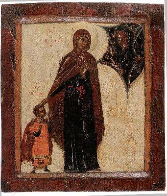 Св. мъченици Кирик и Иулита. Икона от Византия. Протат (Атон). XV век.
