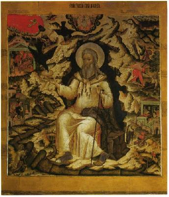 Свети славен пророк Илия в пустинята. Икона от 1672 г.