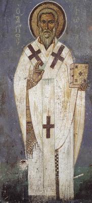 Свети свещеномъченик Фока Синопийски. Фреска от Атон. Манастир Ватопед