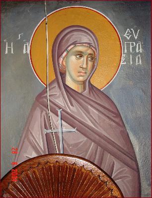 Св. преподобна девица Евпраксия Константинополска