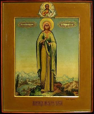 Св. мъченица Серафима Римска. Икона от края на XIX в.