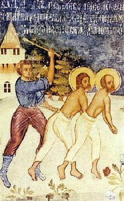 Мъчение на апостолите Павел и Сила