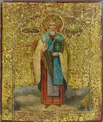 Св. свещеномъченик Валентин. Икона от XIX век.