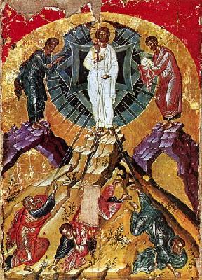 Преображение Господне. Икона от XVI в. Гърция