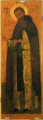 Св. преподобни Теодосий Печерски. Руска икона от XVII в.