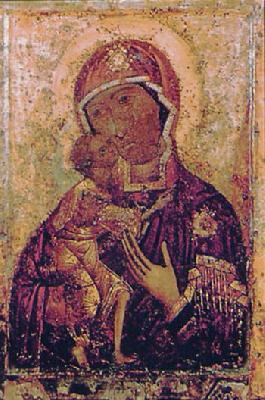 Първообраз на Теодорската - Костромска икона. Появявила се през XII век.