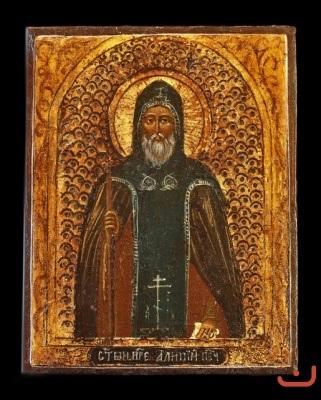 Св. Алипий - иконописец. Икона от втората половина на XIX в.