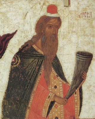 Св. пророк Самуил. Фрагмент от икона в Успенския събор на Кирило-Белозерския манастир. 1497 г.