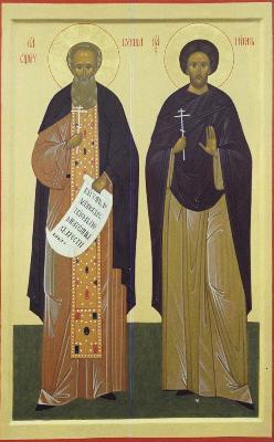 Св. преподобни свещеномъченици Кукша и Никон Печерски