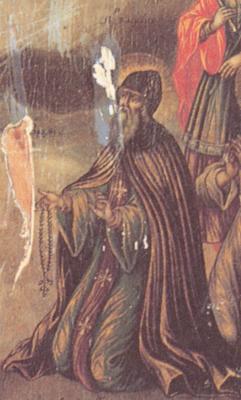 Св. Васиан Тиксненски. Фрагмент от руска икона. Около 1790 г. Село Голоустново на ез. Байкал